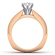 14k White And Rose Gold Marquise  Straight Engagement Ring angle 2