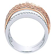14k White And Rose Gold Souviens Fashion Ladies' Ring angle 2