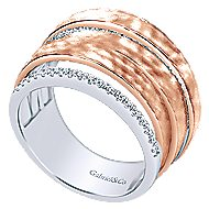 14k White And Rose Gold Souviens Fashion Ladies' Ring angle 3