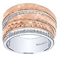 14k White And Rose Gold Souviens Fashion Ladies' Ring angle 4