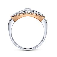 14k White And Rose Gold Victorian Fashion Ladies Ring