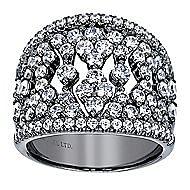 14k White Gold Allure Fashion Ladies' Ring angle 4