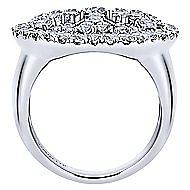 14k White Gold Allure Fashion Ladies' Ring angle 2