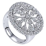 14k White Gold Allure Fashion Ladies' Ring angle 3