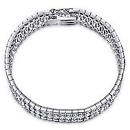 14k White Gold Allure Tennis Bracelet angle 1