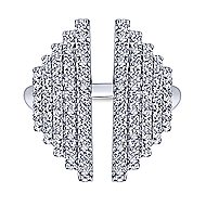 14k White Gold Art Deco Fashion Ladies' Ring angle 4