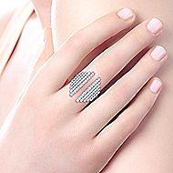 14k White Gold Art Deco Fashion Ladies' Ring angle 5