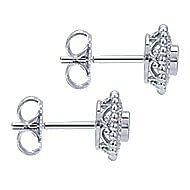 14k White Gold Bujukan Stud Earrings angle 3