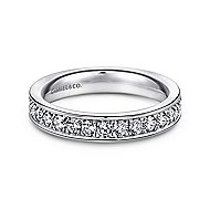 14k White Gold Channel Prong Set Eternity Band