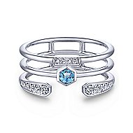 14k White Gold Constellations Fashion Ladies' Ring angle 1