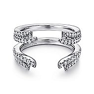 14k White Gold Contemporary Enhancer Anniversary Band angle 1