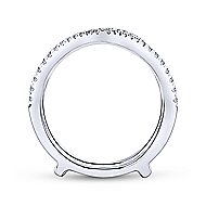 14k White Gold Contemporary Enhancer Anniversary Band angle 2