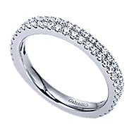 14k White Gold Contemporary Fancy Anniversary Band angle 3