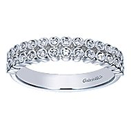 14k White Gold Contemporary Fancy Anniversary Band angle 5