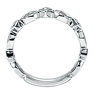 14k White Gold Contemporary Stackable Anniversary Band angle 2