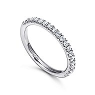 14k White Gold Contemporary Straight Anniversary Band angle 3