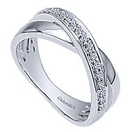 14k White Gold Contemporary Twisted Ladies' Ring angle 3