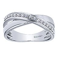 14k White Gold Contemporary Twisted Ladies' Ring angle 4