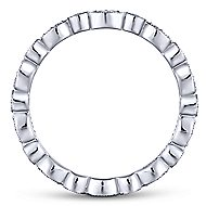 14k White Gold Contoured Diamond Eternity Stackable Ring