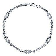14k White Gold Endless Diamonds Chain Bracelet angle 1