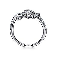 14k White Gold Eternal Love Fashion Ladies' Ring angle 2