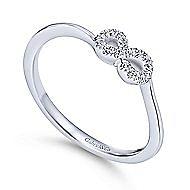 14k White Gold Eternal Love Fashion Ladies' Ring angle 3