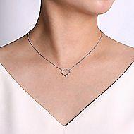 14k White Gold Eternal Love Heart Necklace