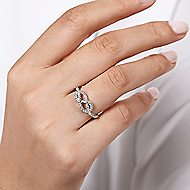 14k White Gold Eternal Love Twisted Ladies' Ring angle 5