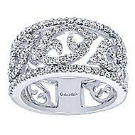 14k White Gold Flirtation Fashion Ladies' Ring angle 4