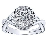 14k White Gold Flirtation Fashion Ladies' Ring angle 4