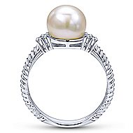 14k White Gold Grace Classic Ladies' Ring angle 2
