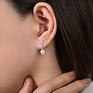 14k White Gold Grace Drop Earrings