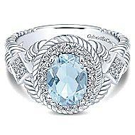 14k White Gold Hampton Classic Ladies' Ring angle 1