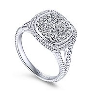 14k White Gold Hampton Classic Ladies' Ring angle 3