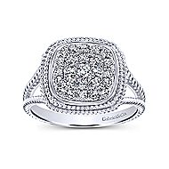 14k White Gold Hampton Classic Ladies' Ring angle 4