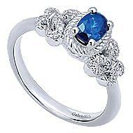 14k White Gold Hampton Fashion Ladies' Ring angle 3