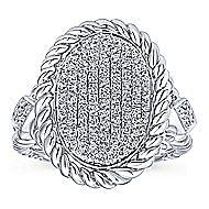 14k White Gold Hampton Fashion Ladies' Ring angle 4