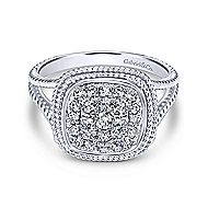 14k White Gold Hampton Fashion Ladies' Ring angle 1
