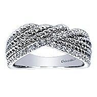 14k White Gold Hampton Fashion Ladies' Ring angle 5
