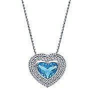 14k White Gold Hampton Heart Necklace angle 1