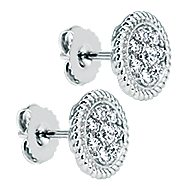 14k White Gold Hampton Stud Earrings angle 2
