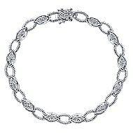 14k White Gold Hampton Tennis Bracelet angle 1