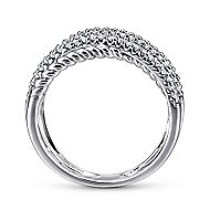 14k White Gold Hampton Wide Band Ladies' Ring angle 2