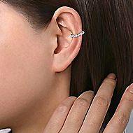 14k White Gold Kaslique Earcuffs Earrings