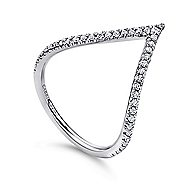 14k White Gold Kaslique Fashion Ladies Ring