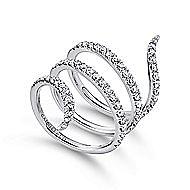14k White Gold Kaslique Fashion Ladies' Ring angle 3