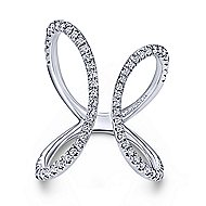14k White Gold Kaslique Fashion Ladies' Ring angle 1