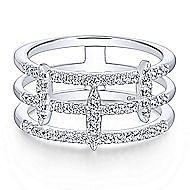 14k White Gold Kaslique Fashion Ladies' Ring angle 1