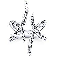 14k White Gold Kaslique Fashion Ladies' Ring angle 4