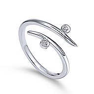 14k White Gold Kaslique Midi Ladies Ring